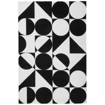 BLACK&WHITE 392 FEKETE SZŐNYEG 80*150cm